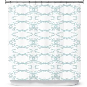 Premium Shower Curtains | Julie Ansbro - Twigs White