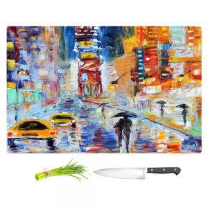 Artistic Kitchen Bar Cutting Boards | Karen Tarlton - A New York New Year