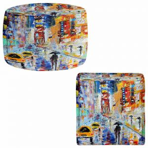 Round and Square Ottoman Foot Stools | Karen Tarlton - A New York New Year
