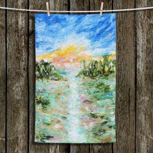 Unique Hanging Tea Towels | Karen Tarlton - Abstract Ocean Rocks | coast sea water nature landscape