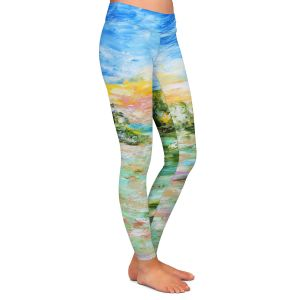 Casual Comfortable Leggings | Karen Tarlton - Abstract Ocean Rocks | coast sea water nature landscape