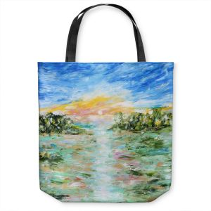 Unique Shoulder Bag Tote Bags | Karen Tarlton - Abstract Ocean Rocks | coast sea water nature landscape