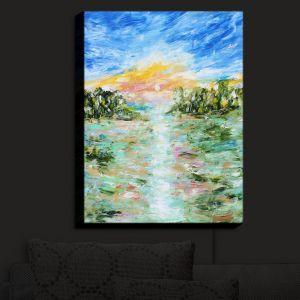 Nightlight Sconce Canvas Light | Karen Tarlton - Abstract Ocean Rocks