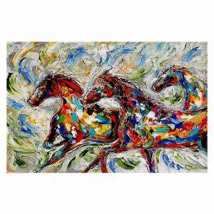 Decorative Floor Coverings | Karen Tarlton Abstract Wild Horses