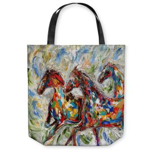 Unique Shoulder Bag Tote Bags | Karen Tarlton Abstract Wild Horses
