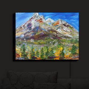 Nightlight Sconce Canvas Light | KarenTarlton - Alaska Autumn Snow | Mountains Spring