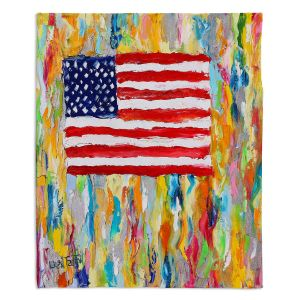 Decorative Fleece Throw Blankets   Karen Tarlton - American Flag