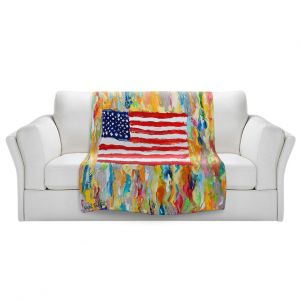 Artistic Sherpa Pile Blankets   Karen Tarlton - American Flag