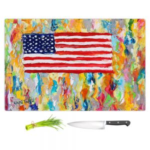 Artistic Kitchen Bar Cutting Boards | Karen Tarlton - American Flag