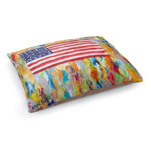 Decorative Dog Pet Beds | Karen Tarlton - American Flag