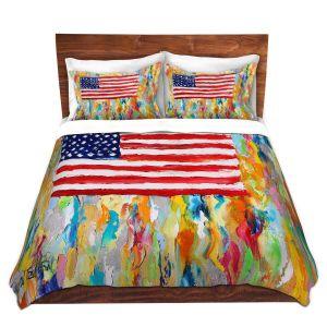 Artistic Duvet Covers and Shams Bedding   Karen Tarlton - American Flag