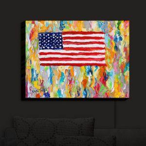 Nightlight Sconce Canvas Light | Karen Tarlton - American Flag | America Freedom