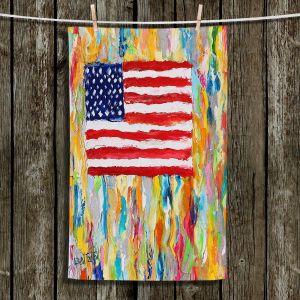Unique Bathroom Towels   Karen Tarlton - American Flag