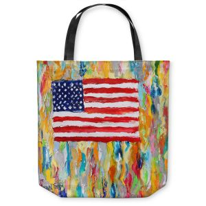 Unique Shoulder Bag Tote Bags   Karen Tarlton - American Flag