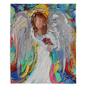 Decorative Fleece Throw Blankets | Karen Tarlton - Angel Flowers