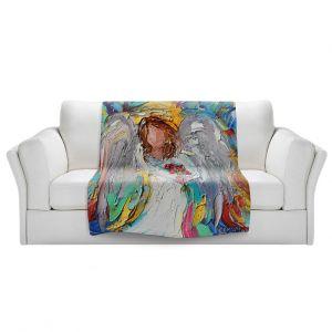 Artistic Sherpa Pile Blankets | Karen Tarlton - Angel Flowers