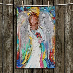 Unique Hanging Tea Towels | Karen Tarlton - Angel Flowers | Angels Flowers