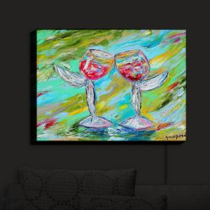 Nightlight Sconce Canvas Light | Karen Tarlton - Angel Glasses | Drinks
