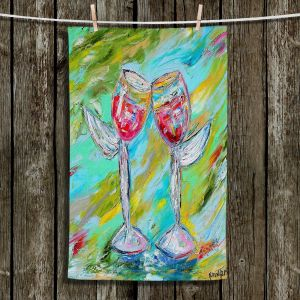 Unique Hanging Tea Towels | Karen Tarlton - Angel Glasses | Drinks