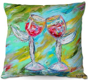 Decorative Outdoor Patio Pillow Cushion | Karen Tarlton - Angel Glasses