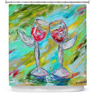 Premium Shower Curtains | Karen Tarlton - Angel Glasses