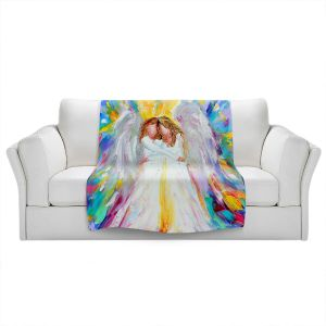 Artistic Sherpa Pile Blankets | Karen Tarlton - Angel Hugs 2 | Spiritual People