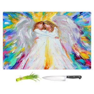 Artistic Kitchen Bar Cutting Boards | Karen Tarlton - Angel Hugs 2 | Spiritual People