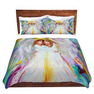 Artistic Duvet Covers and Shams Bedding | Karen Tarlton - Angel Hugs 2 | Spiritual People