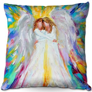 Throw Pillows Decorative Artistic   Karen Tarlton - Angel Hugs 2   Spiritual People