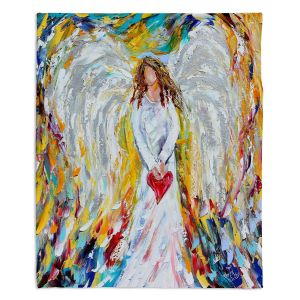 Artistic BLANKETS DiaNoche Designs - Karen Tarlton - Angel of My Heart