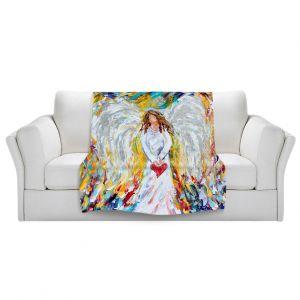 Unique Blanket Fleece Medium from DiaNoche Designs by Karen Tarlton - Angel of My Heart
