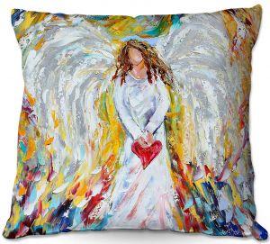 Decorative Outdoor Patio Pillow Cushion   Karen Tarlton - Angel of My Heart