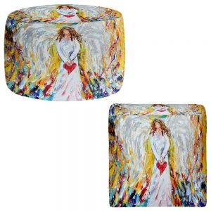 Round and Square Ottoman Foot Stools | Karen Tarlton - Angel of My Heart