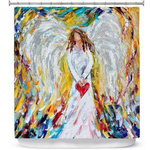 Premium Shower Curtains | Karen Tarlton Angel of My Heart