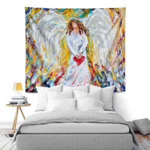 Artistic Wall Tapestry | Karen Tarlton Angel of My Heart