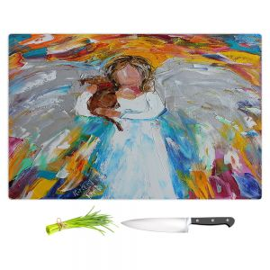 Artistic Kitchen Bar Cutting Boards | Karen Tarlton - Angel Puppy