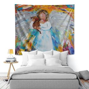 Artistic Wall Tapestry | Karen Tarlton - Angel Puppy
