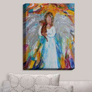 Decorative Canvas Wall Art | Karen Tarlton - Angel Puppy | Angels Animals