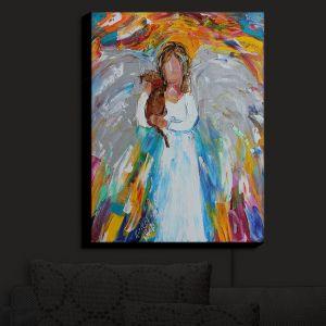 Nightlight Sconce Canvas Light | Karen Tarlton - Angel Puppy | Angels Animals