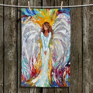 Unique Bathroom Towels | Karen Tarlton - Angel Watching Over Me