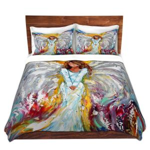Decorative Duvet Covers from DiaNoche by Karen Tarlton - Angel Watching Over Me