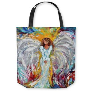 Unique Shoulder Bag Tote Bags | Karen Tarlton Angel Watching Over Me