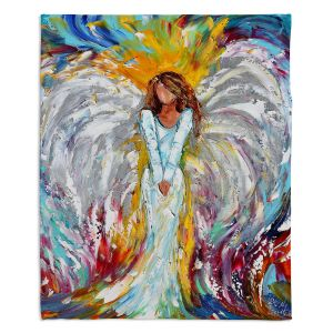 Artistic Sherpa Pile Blankets | Karen Tarlton Angel Watching Over Me
