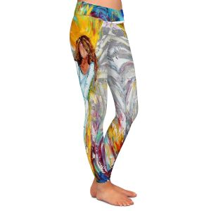 Casual Comfortable Leggings | Karen Tarlton Angel Watching Over Me