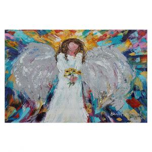 Decorative Floor Coverings | Karen Tarlton - Angel With Sunflowers