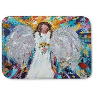 Decorative Bathroom Mats | Karen Tarlton - Angel With Sunflowers