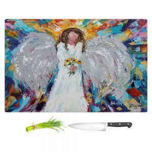 Artistic Kitchen Bar Cutting Boards | Karen Tarlton - Angel With Sunflowers