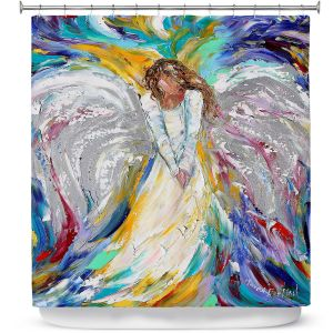 Premium Shower Curtains | Karen Tarlton - Angel 1 | Heaven Paint