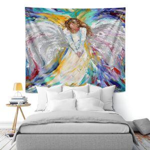 Artistic Wall Tapestry   Karen Tarlton - Angel 1   Heaven Paint