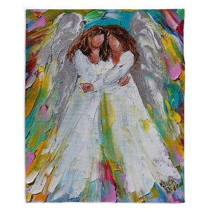 Artistic Sherpa Pile Blankets   Karen Tarlton - Angel Hugs   spiritual heaven abstract painterly